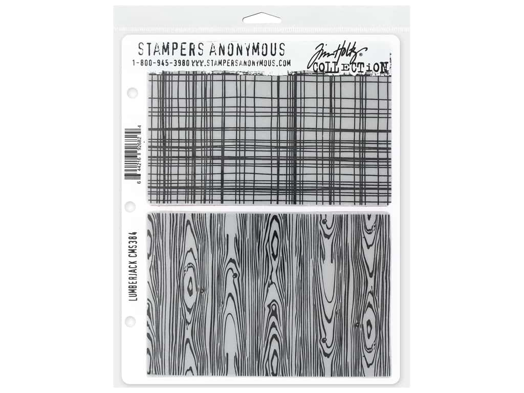 Stampers Anonymous Tim Holtz Cling Mount Stamp Set - Lumber Jack