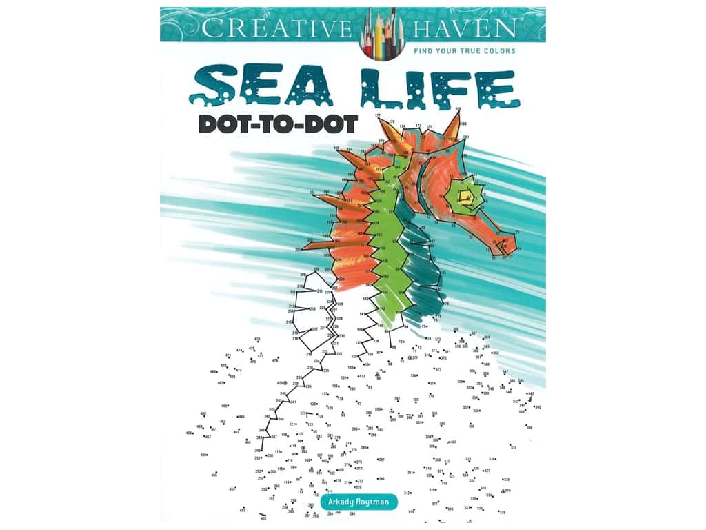 Dover Publications Creative Haven Sea Life Dot-to-Dot Book