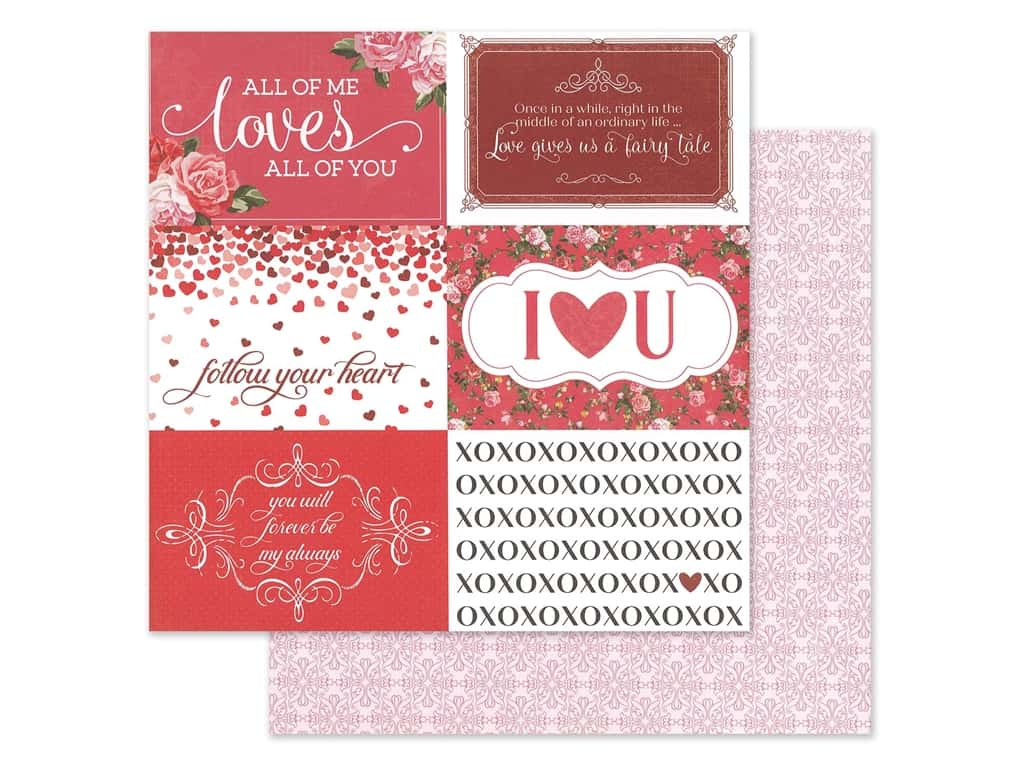 Photo Play 12 x 12 in. Paper Be Mine Follow Your Heart (25 pieces)
