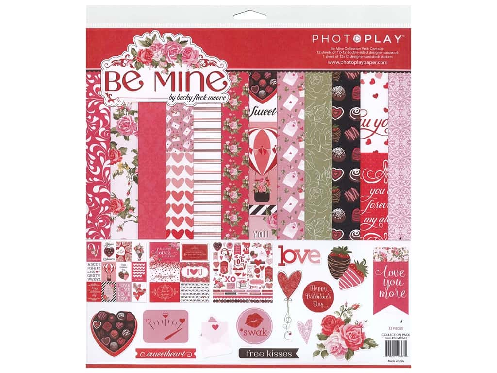 Photo Play 12 x 12 in. Collection Pack Be Mine