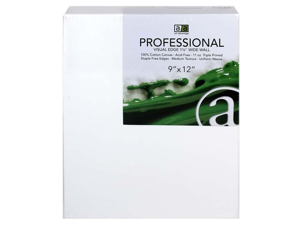 Art Advantage Professional Canvas 9 in. x 12 in. Wide Wall