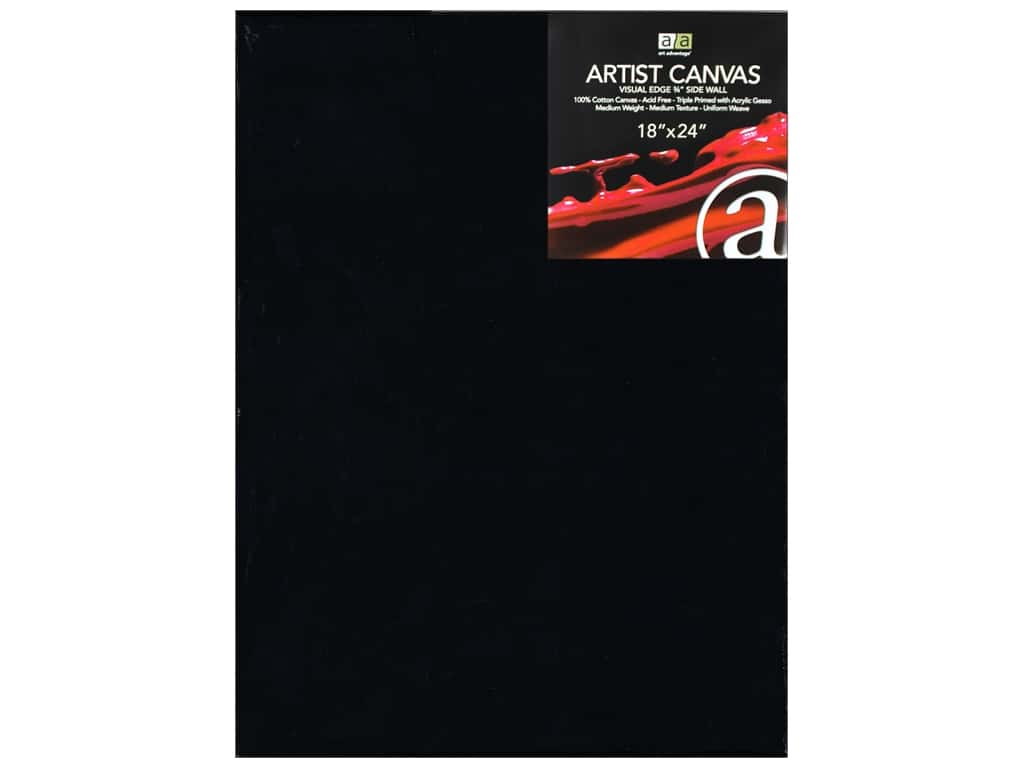 Art Advantage Artist Canvas 18 x 24 in. Black