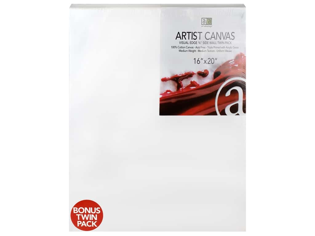 Art Advantage Artist Canvas 16 x 20 in. Twin Pack