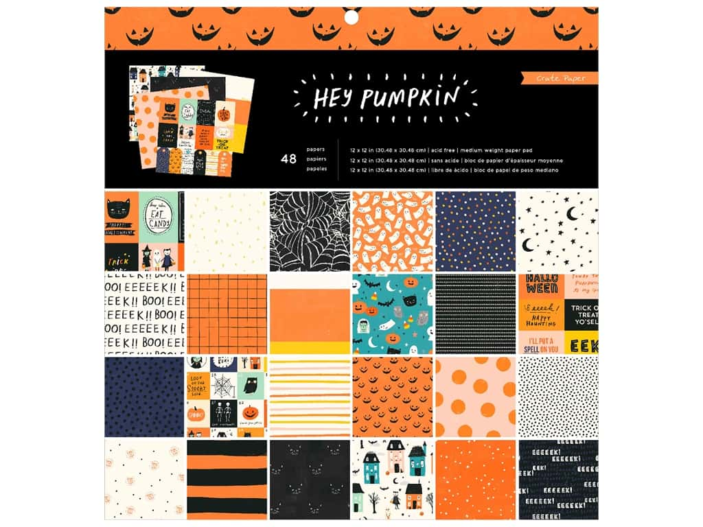 Crate Paper Paper Pad Hey Pumpkin 12 in. x 12 in.