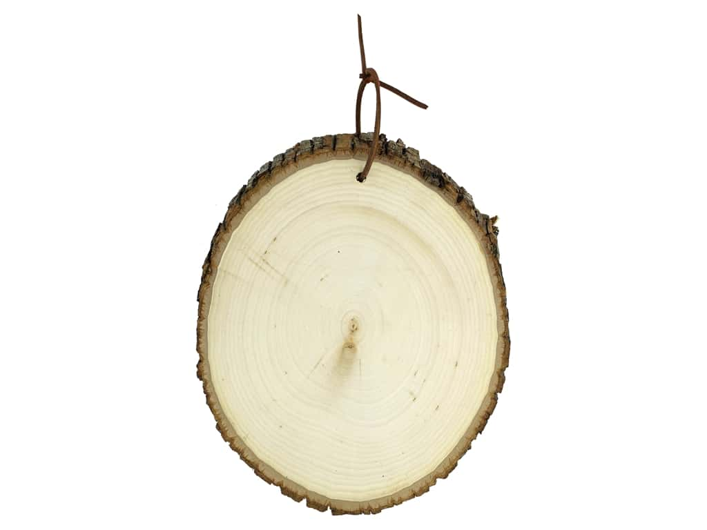 Walnut Hollow Wood Basswood Country Round With Leather Hanger