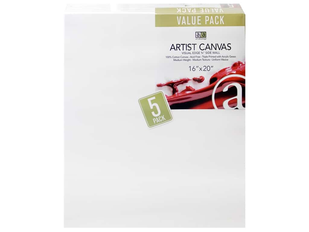 Art Advantage Artist Canvas 16 x 20 in. 5 pc.