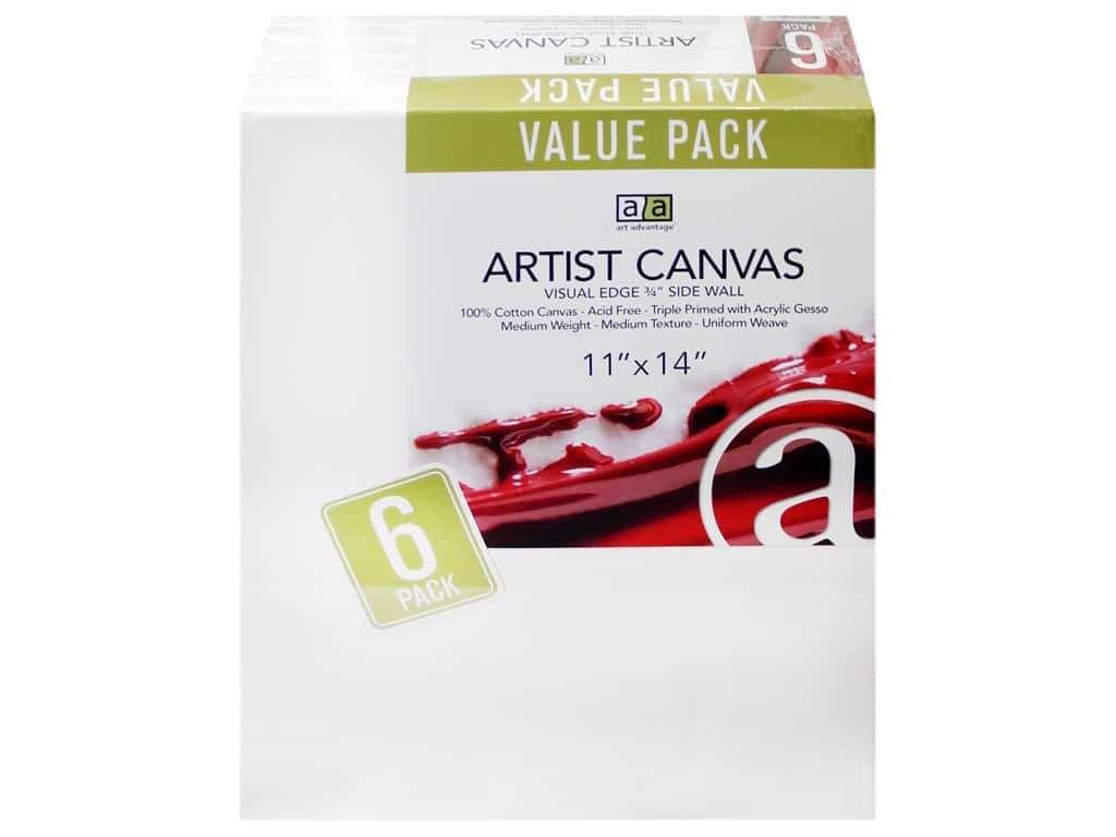 Art Advantage Artist Canvas 11 x 14 in. 6 pc.