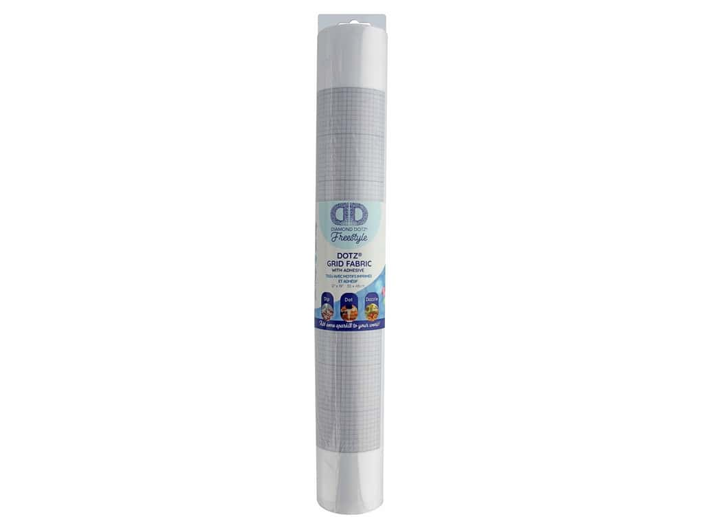 Diamond Dotz Freestyle Fabric Roll Grid & Adhesive 12 in. x 19 in.