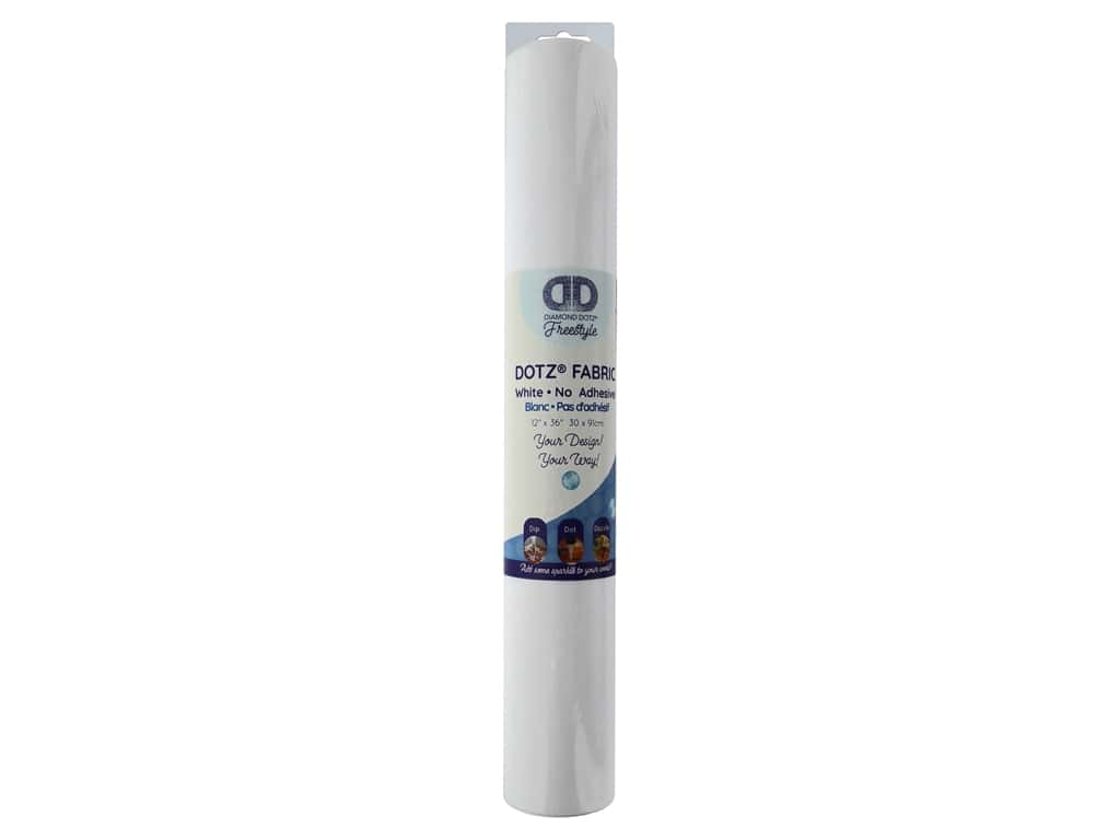 Diamond Dotz Freestyle Fabric Roll White No Adhesive 12 in. x 36 in.