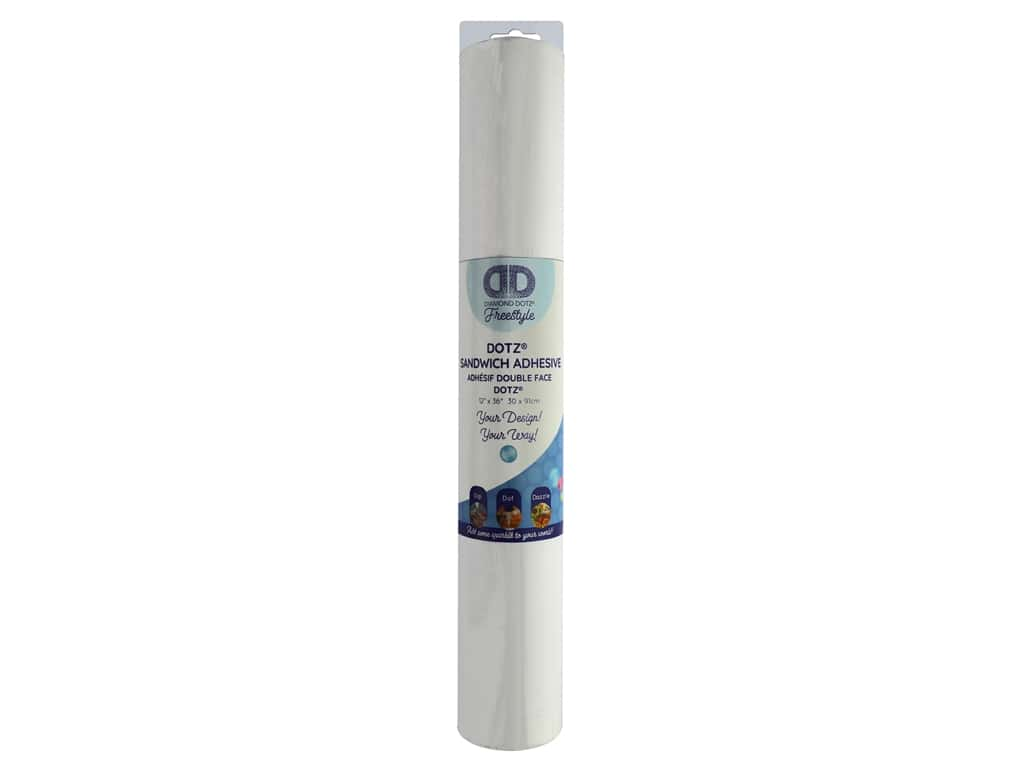 Diamond Dotz Freestyle Sandwich Adhesive Roll 12 in. x 36 in.