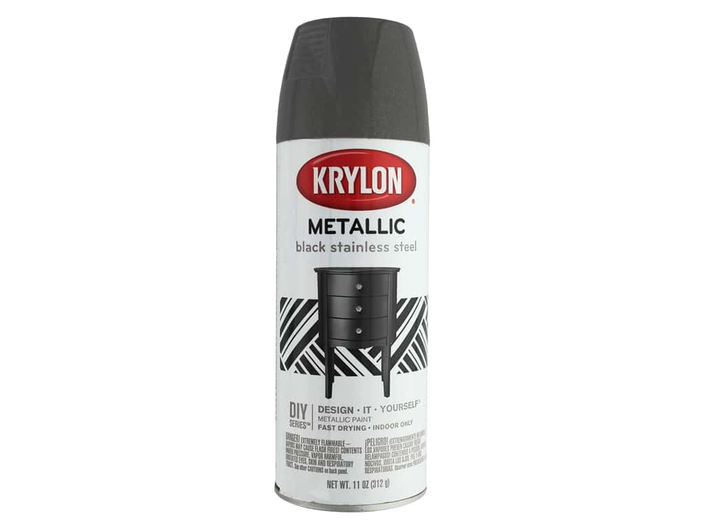 Krylon Brilliant Metallic Spray Paint 11 oz. Stainless Steel Black