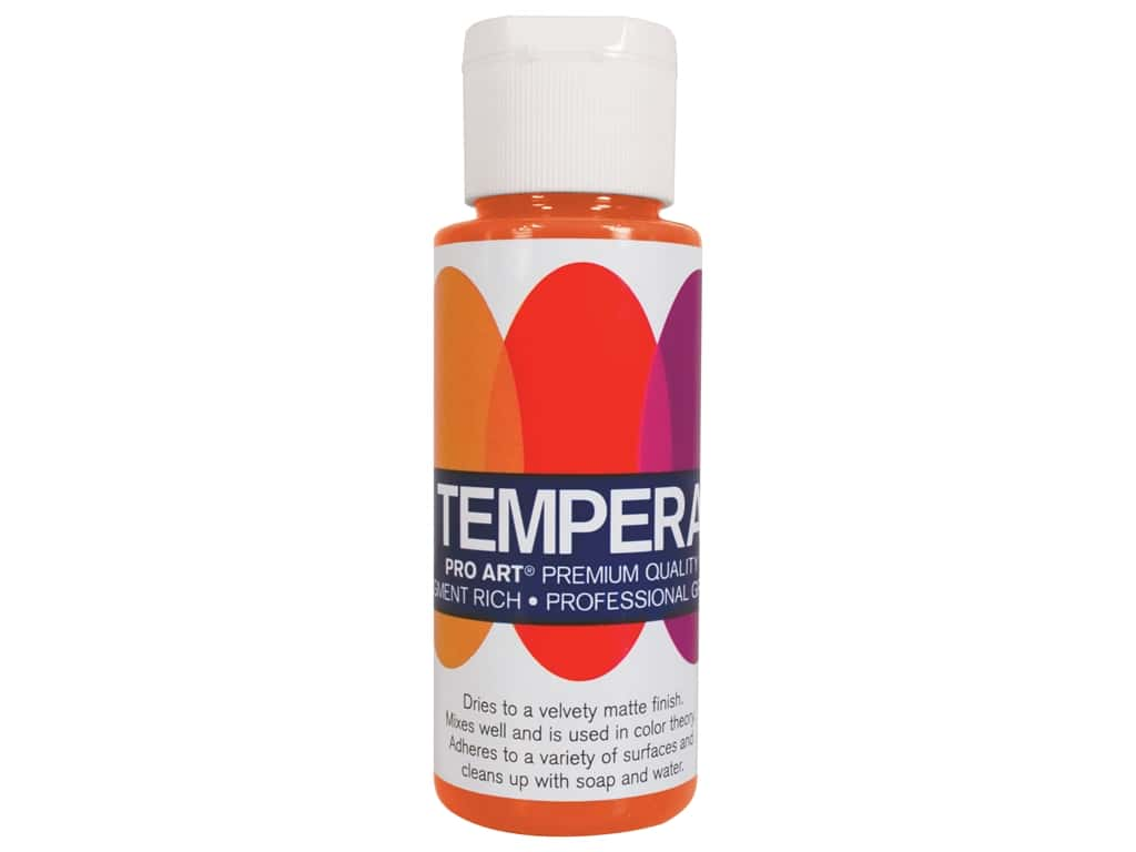 Pro Art Liquid Tempera Paint 2 oz. Orange