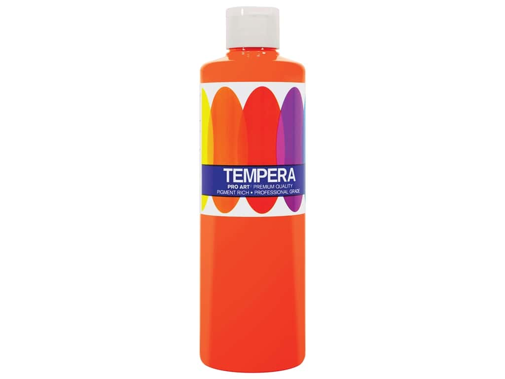 Pro Art Liquid Tempera Paint 8 oz. Orange