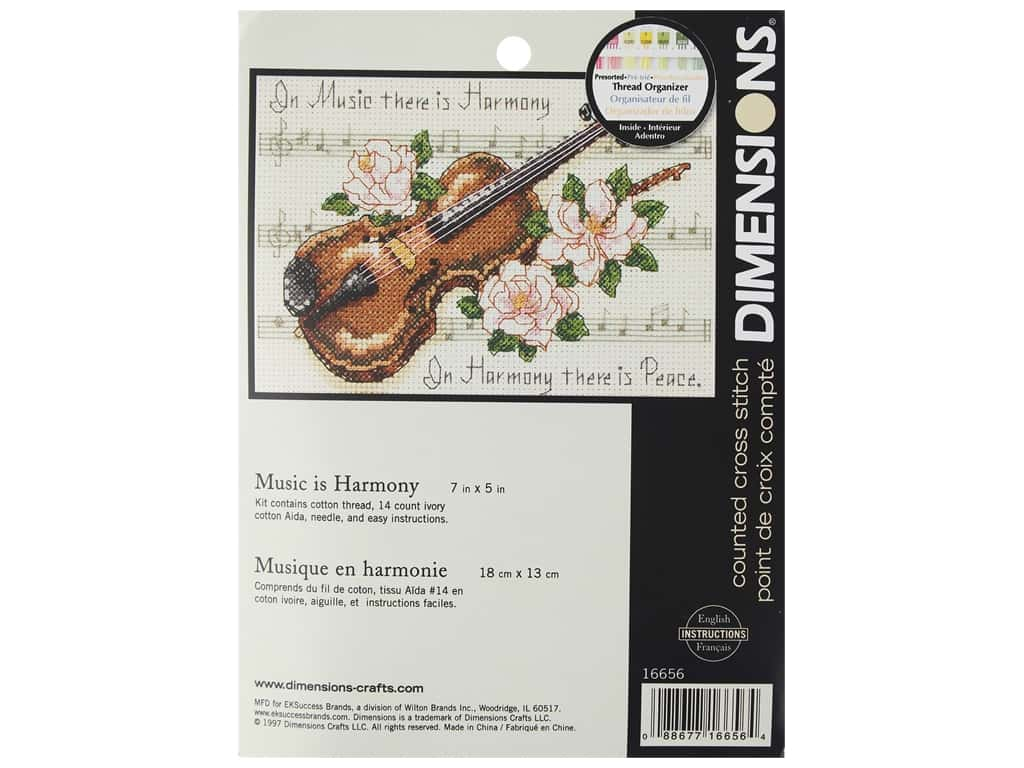 Dimensions Cross Stitch Kit 7 in. x 5 in. Music Is Harmony