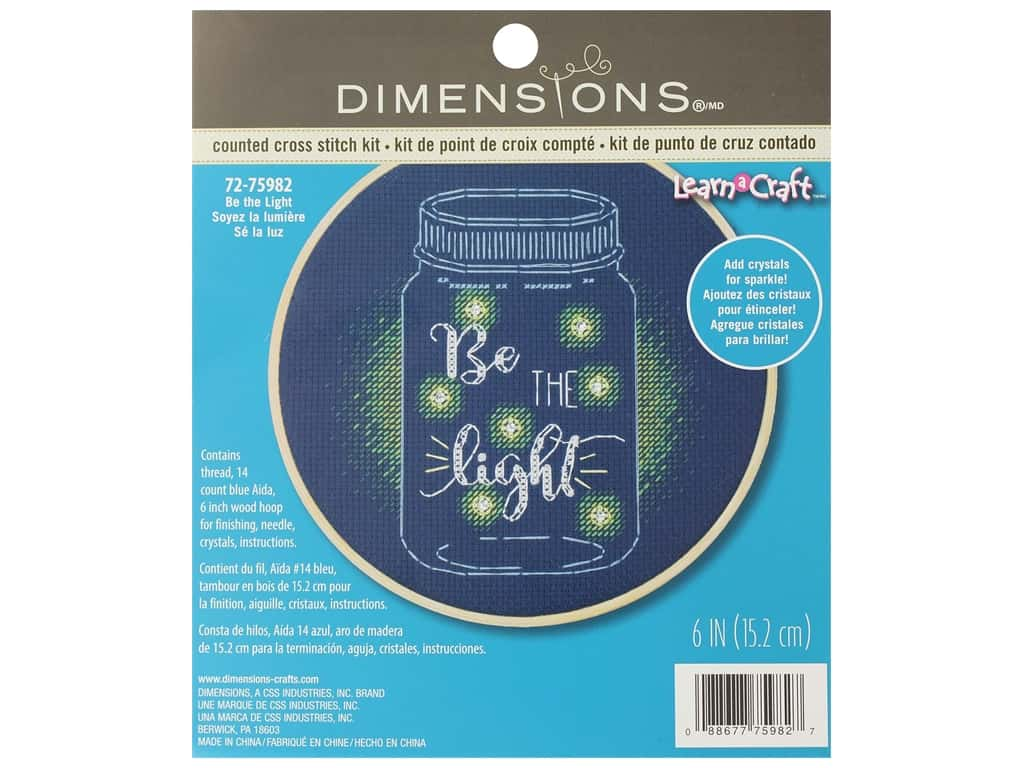Dimensions Cross Stitch Kit 6 in. Be The Light (2 kits)