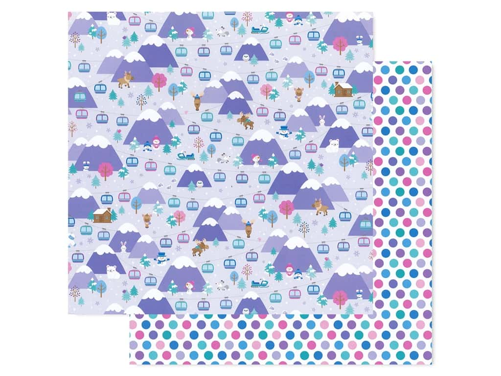 Doodlebug Collection Winter Wonderland Paper 12 in. x 12 in. Hit The Slopes (25 pieces)