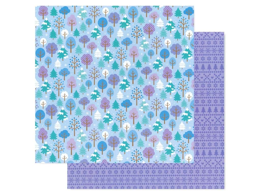 Doodlebug Collection Winter Wonderland Paper 12 in. x 12 in. Frosted Forest (25 pieces)