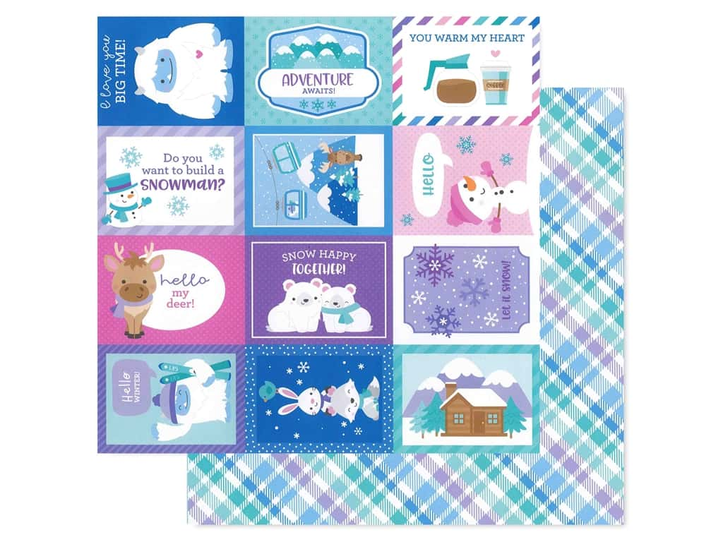 Doodlebug Collection Winter Wonderland Paper 12 in. x 12 in. Cozy Cardigan (25 pieces)
