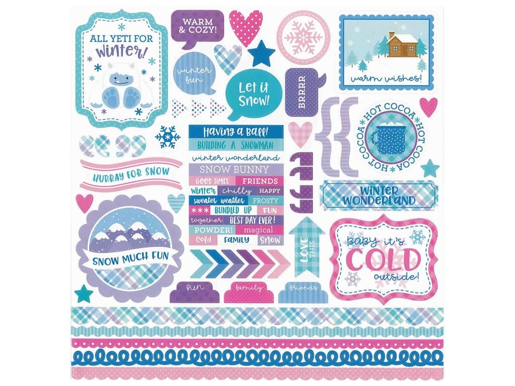 Doodlebug Collection Winter Wonderland Sticker This & That