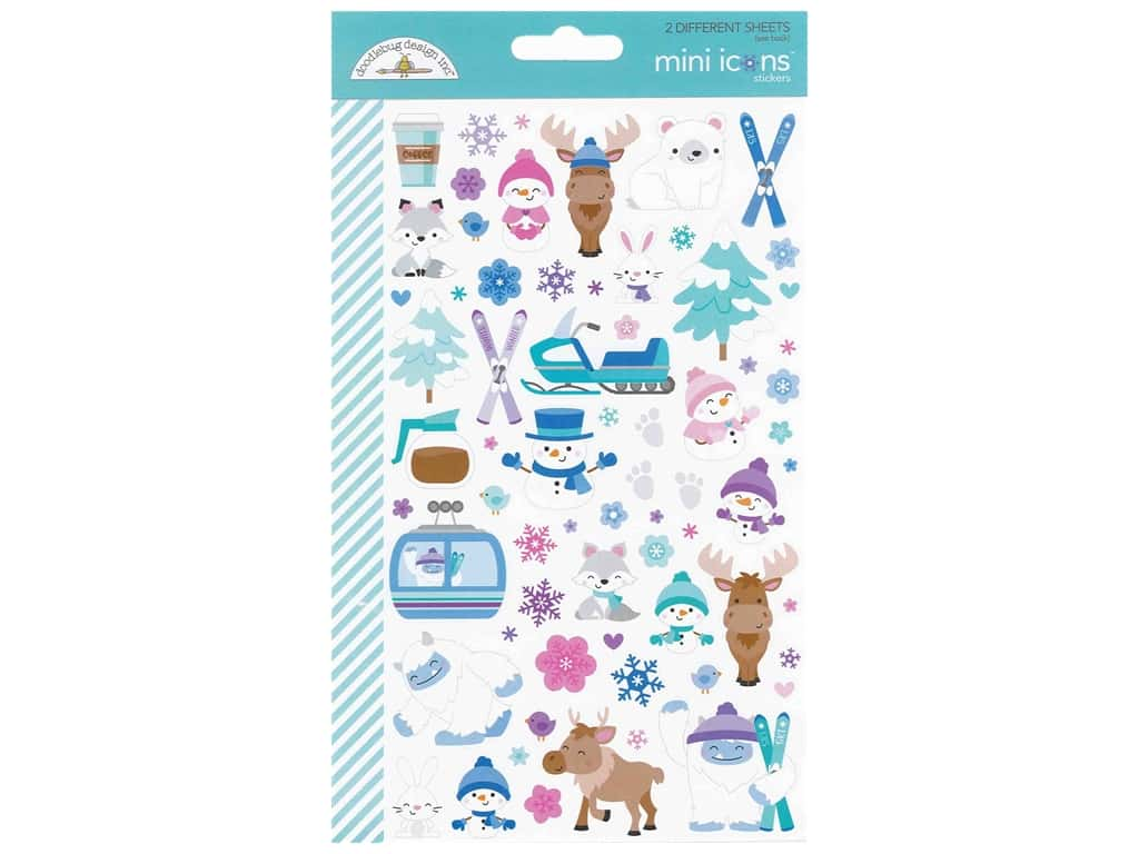 Doodlebug Collection Winter Wonderland Sticker Mini Icons