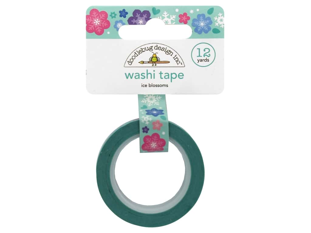 Doodlebug Collection Winter Wonderland Washi Tape Ice Blossoms