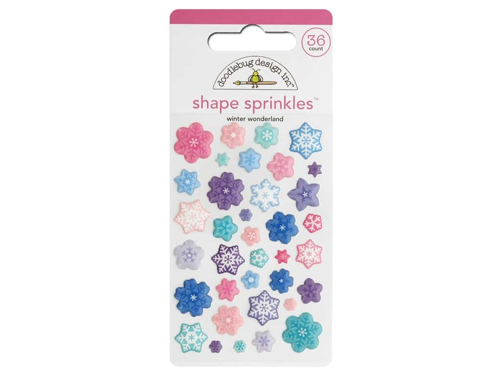 Doodlebug Collection Winter Wonderland Sprinkles Shape Winter Wonderland