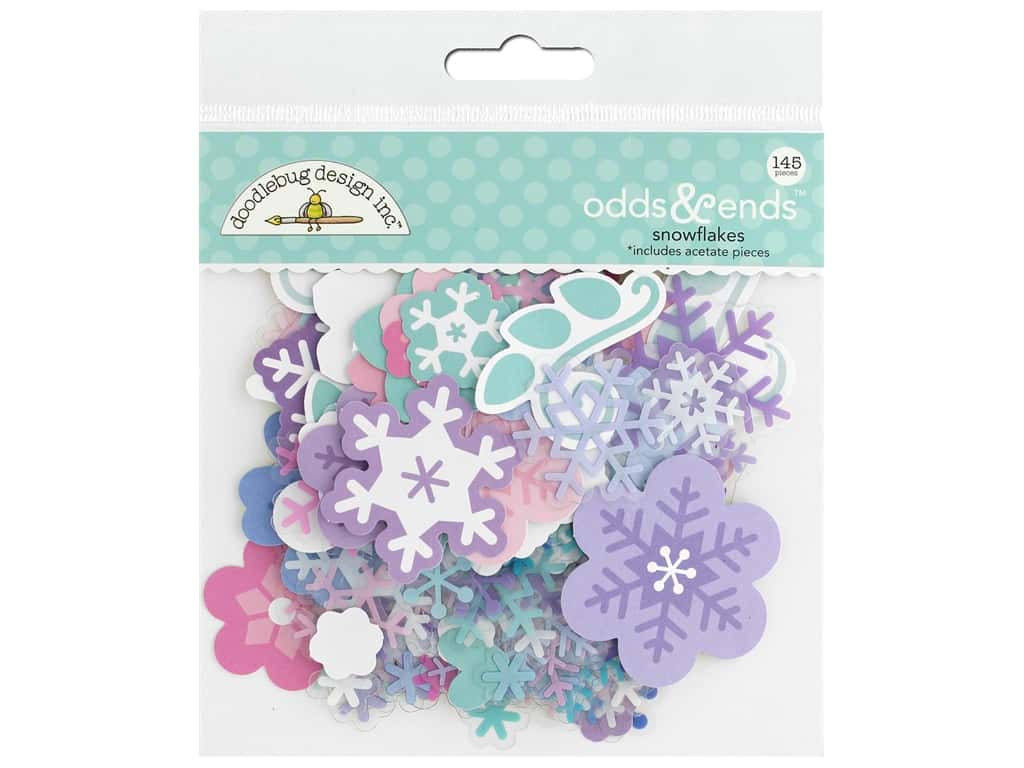 Doodlebug Collection Winter Wonderland Odds & Ends Snowflakes