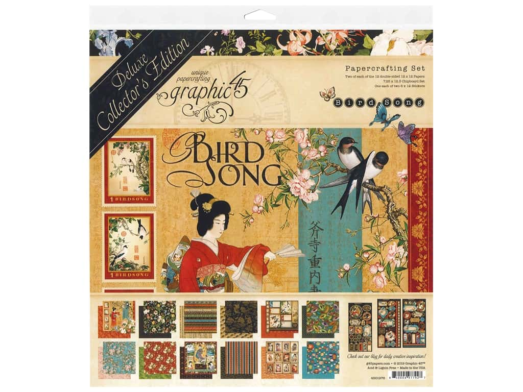 Graphic 45 Deluxe Collectors Edition Bird Song