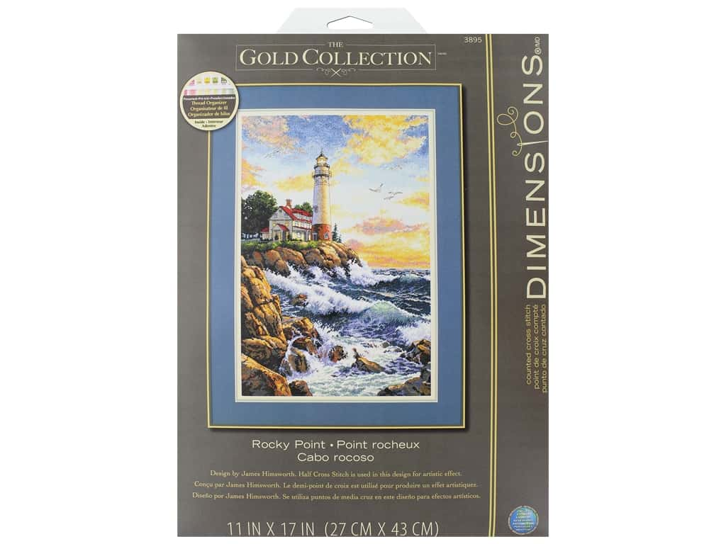 Dimensions Cross Stitch Kit Gold Collection 11 in. x 17 in. Rocky Point