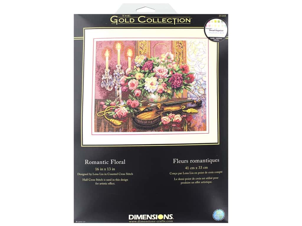 Dimensions Cross Stitch Kit Gold Collection 16 in. x 13 in. Romantic Floral