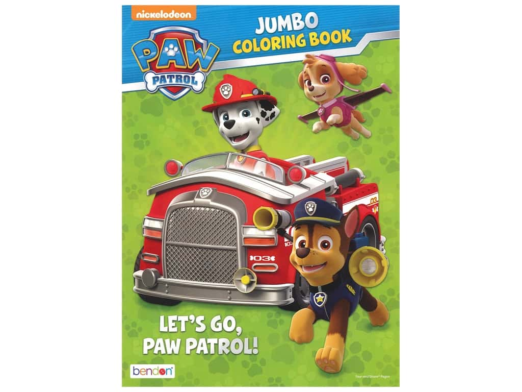 Bendon Jumbo Coloring & Activity Book PAW Patrol