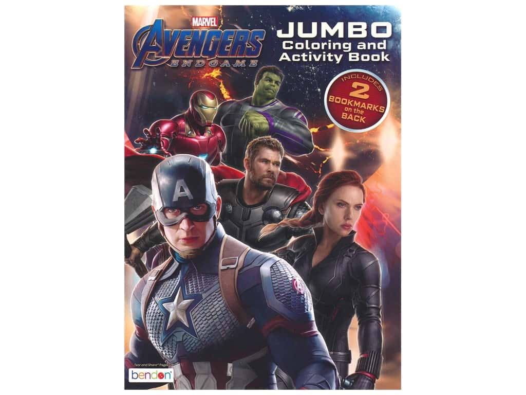 Bendon Jumbo Coloring & Activity Book Avengers Endgame