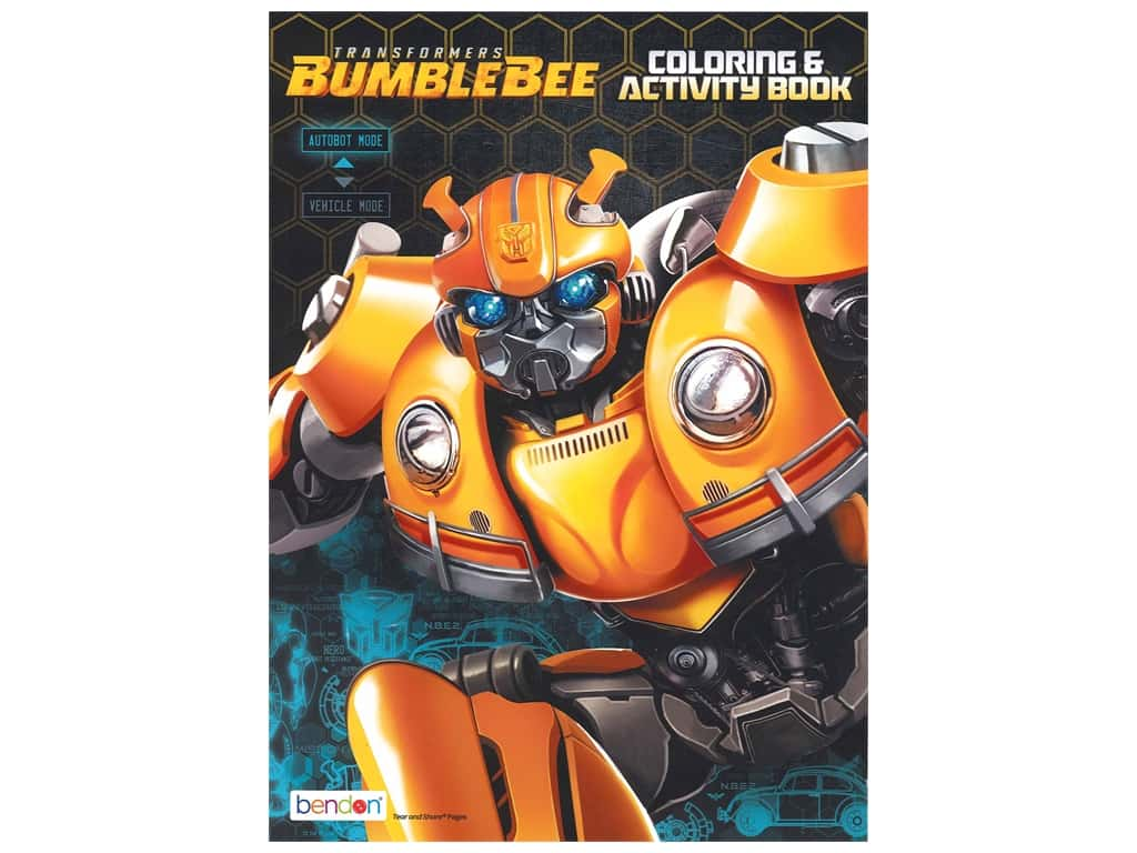 Bendon Jumbo Coloring & Activity Book Transformers 6