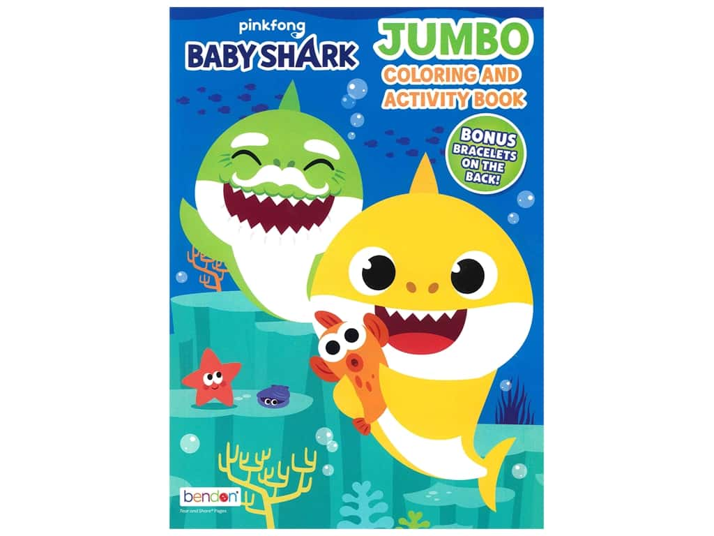 Bendon Jumbo Coloring & Activity Book Pink Fong Baby Shark