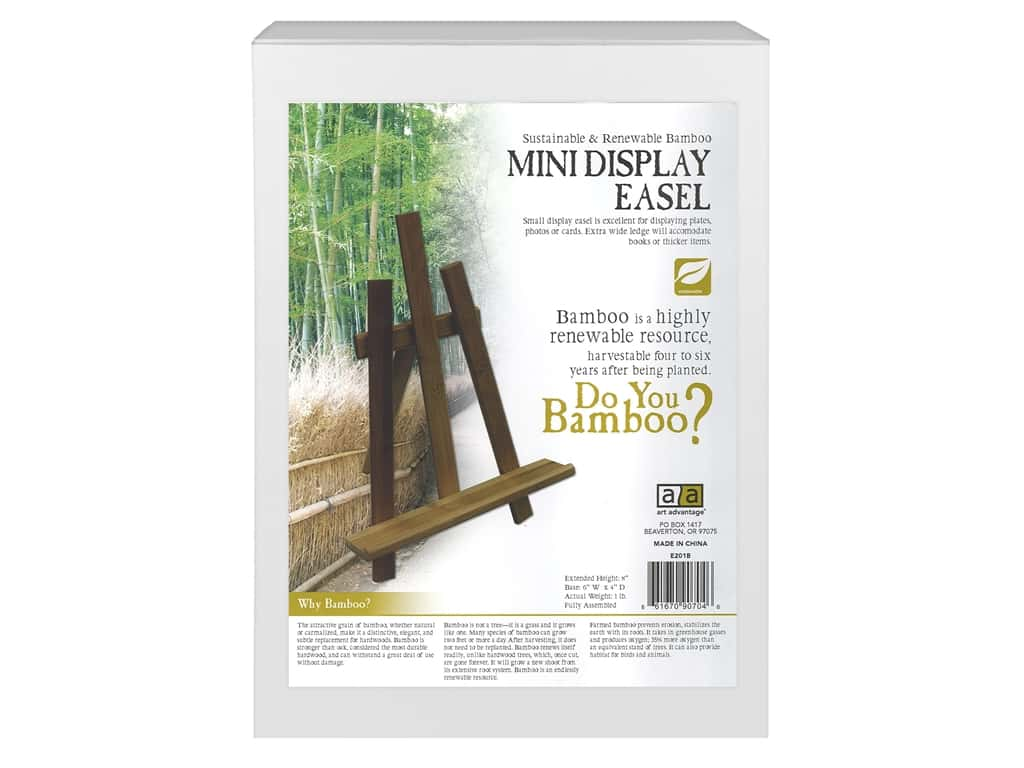 Art Advantage Easel Mini Display Bamboo