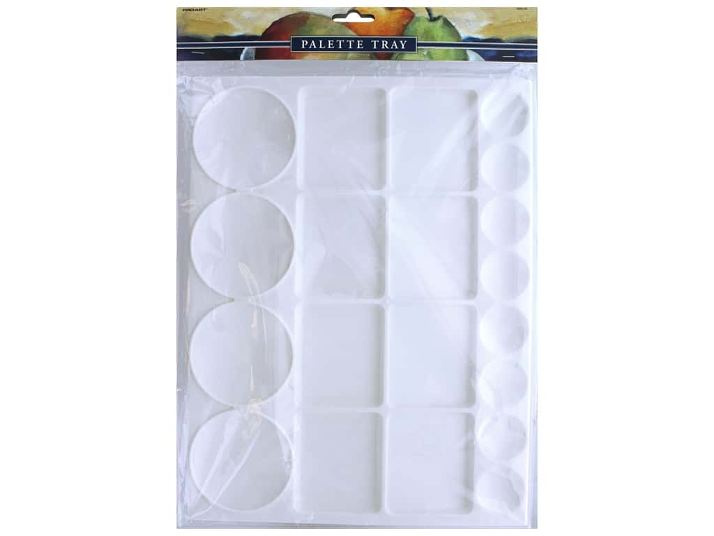 Pro Art Palette Plastic Rectangle Extra Large Tray