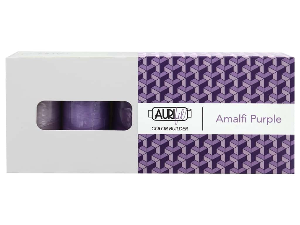 Aurifil Thread Cotton Mako 50 wt 1300 M Color Builders Amalfi Purple 3 pc