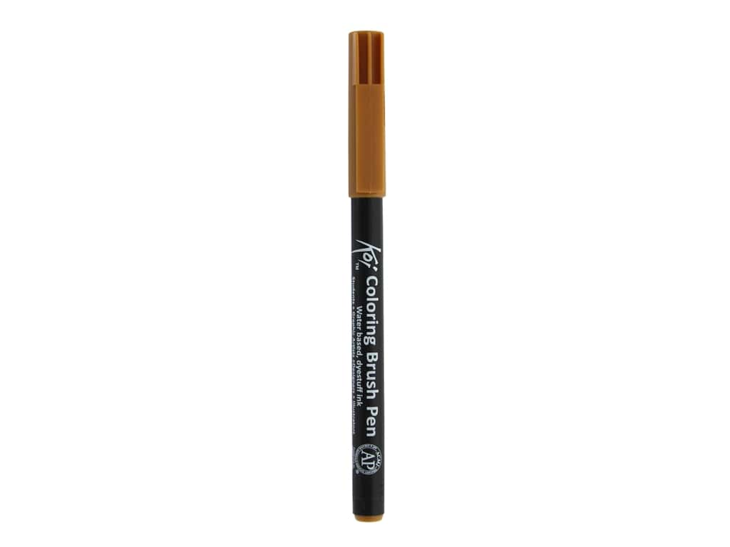 Sakura Koi Coloring Brush Pen Dark Brown (6 pieces)