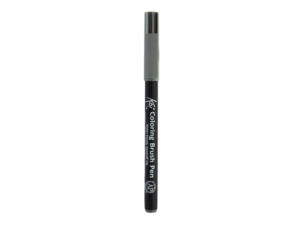 Sakura Koi Coloring Brush Pen Dark Warm Gray (6 pieces)