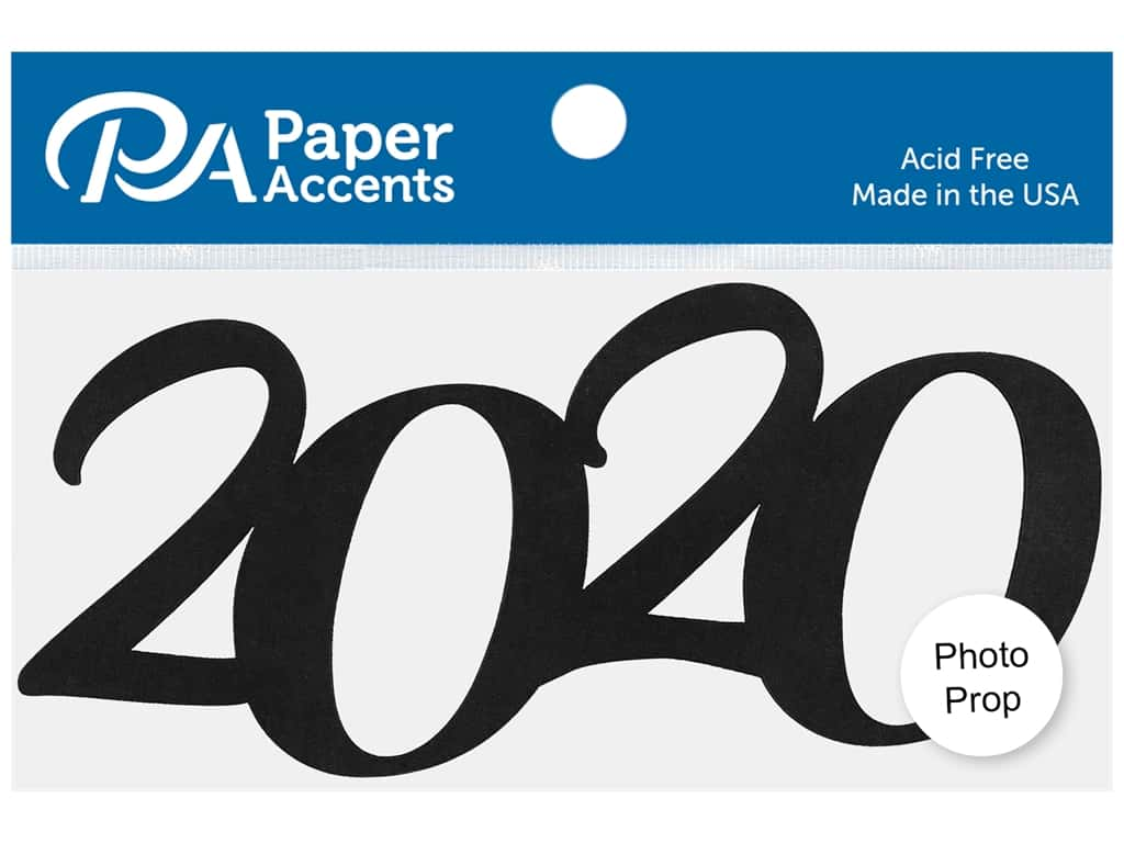 Paper Accents Chip Shape Photo Prop 5.5 in. 2020 Black 4 pc