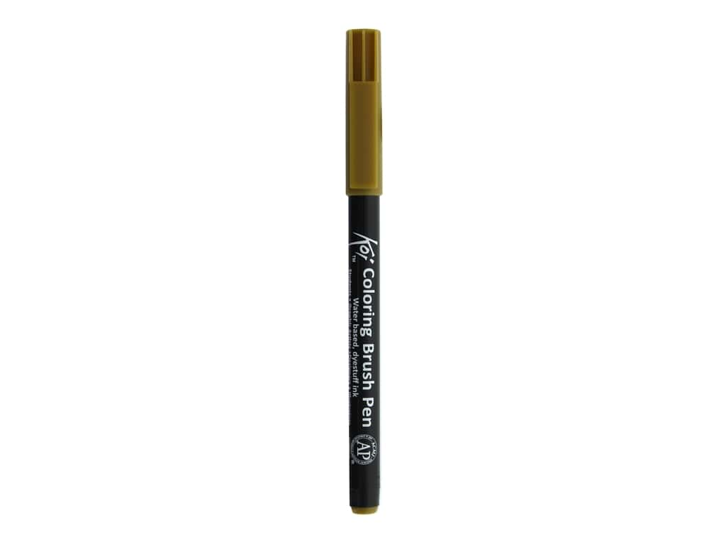 Sakura Koi Coloring Brush Pen Raw Umber (6 pieces)