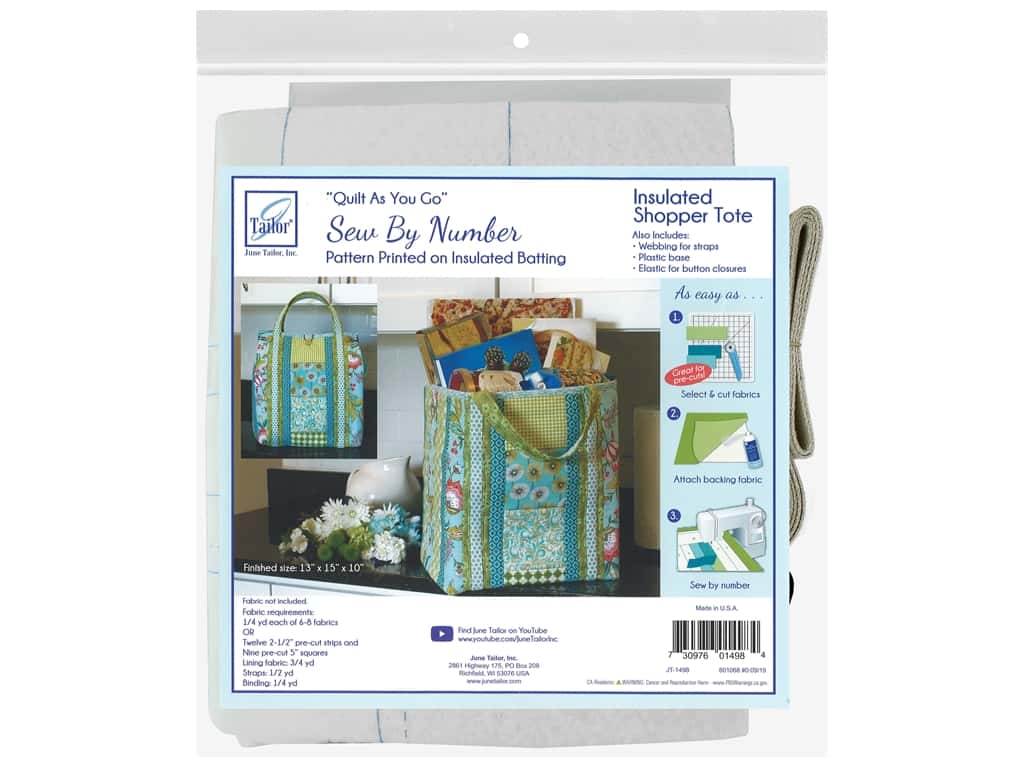 June Tailor Quilt As You Go Insulated Shopper Tote