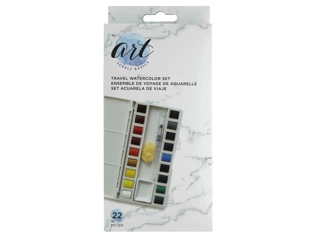 American Crafts Travel Watercolor Set Solid Paint