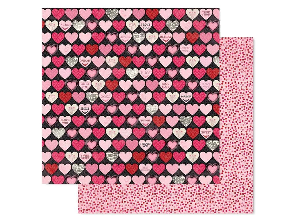 Bo Bunny Collection Count The Ways Paper 12 in. x 12 in. Hearts (25 pieces)