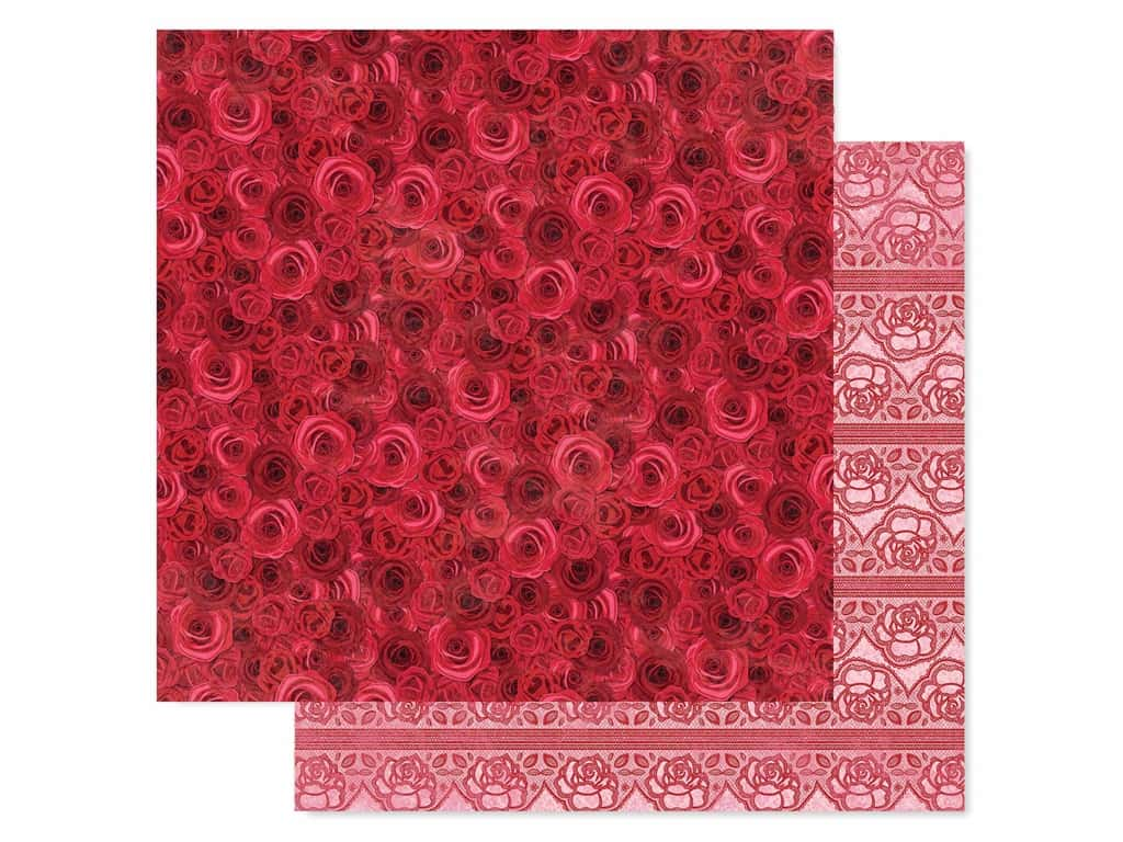 Bo Bunny Collection Count The Ways Paper 12 in. x 12 in. Red Roses (25 pieces)