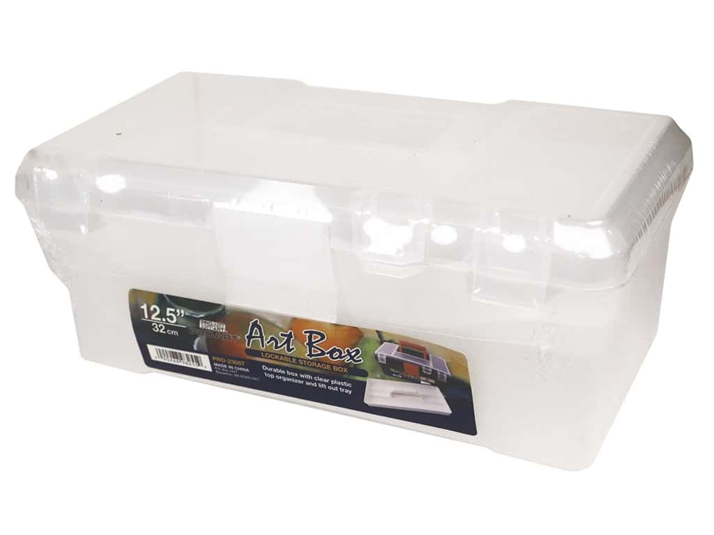 Pro Art Organizer Art Box 12.5 in. x 12.5 in. Translucent