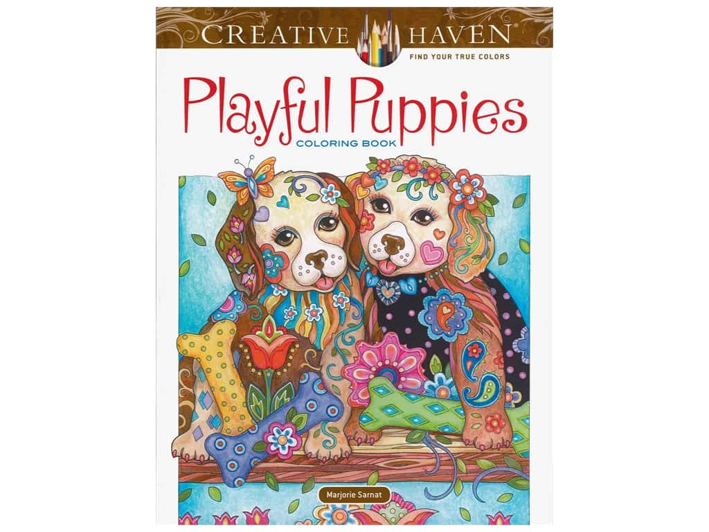 Dover Publications Creative Haven Playful Puppies Coloring Book