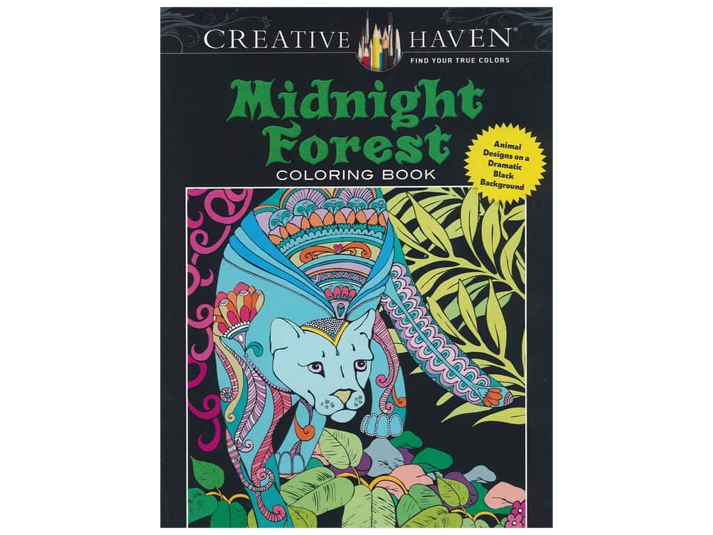Dover Publications Creative Haven Midnight Forest Coloring Book