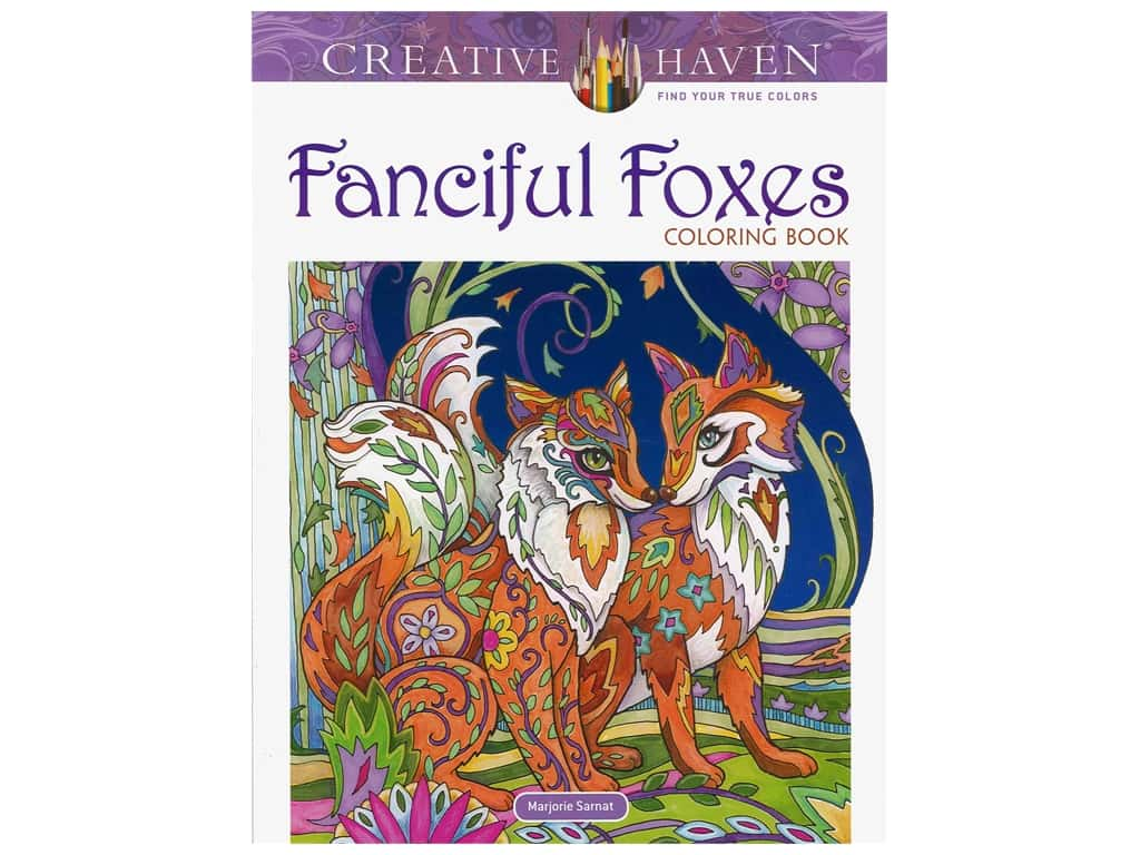 Dover Publications Creative Haven Fanciful Foxes Coloring Book