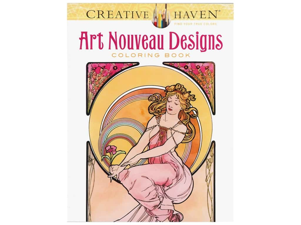 - Creative Haven Art Nouveau Designs Coloring Book -- CreateForLess